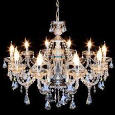 Vintage Ceiling Crystal Chandelier 10 Lights Candle Pendant Lamp Lighting Room