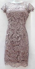 Ralph Lauren Printed Long Sleeves Sheath Cocktail Elegant Dress Sz 10P