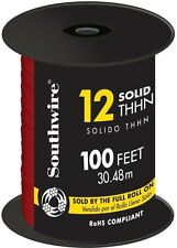 Southwire 100 Ft 12 Gauge Red Solid THHN Copper Single Conductor Electrical Wire