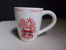 Creative Co-Op Christmas Mug Candy Canes Stripe Peppermint Stick Happy Holidays