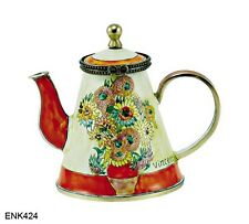 KELVIN CHEN Enamel Hand painted copper Mini Teapot - Sunflower VAN GOGH