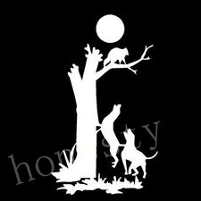 WHITE Vinyl Decal - Coon dog tree hunting hunt Car Stickers laptop glass decor