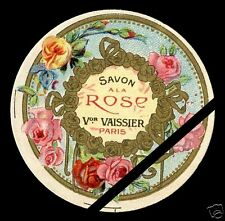 Vintage c. 1900 French Soap Label Perfume Savon Rose Victor Vaissier Paris