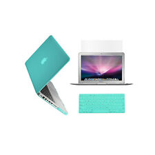 """3in1 HOT BLUE Rubberized Case for Macbook Pro 13"""" A1425 Retina display+Key+LCD"""