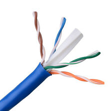 CAT6E Ethernet 550MHz Riser CMR Cable Blue 1000FT - 23 AWG BARE COPPER - NOT CCA