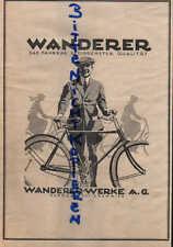 SCHÖNAU-CHEMNITZ, Werbung 1924, Wanderer-Werke AG Fahr-Rad Fahrräder Reifen