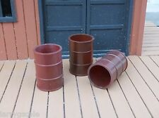 Rusty 50 Gallon Drums (3) w Pallet 4 Pc Miniatures Set 1/24 Scale Diorama Items