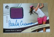 2014 SP Authentic Golf on-card Limited Auto autograph swatch Paula Creamer /100