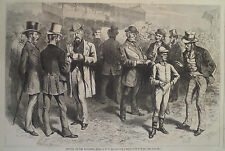 BETTING ON THE FAVORITE JEROME PARK  NEW YORK HARPER'S WEEKLY 1870
