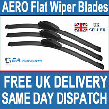 FORD FOCUS 1998-2004 FRONT & REAR EA  AERO Flat Wiper Blades 22-19-16