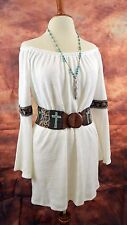 VAVA by JOY HAN DRESS COWGIRL GYPSY WHITE Tunic Western Boho Embroidery  XS