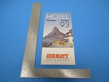 International Travel Brochure Switzerland Zermatt Matterhorn Fuhrer Guide93 S889