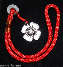 Flower Clasp Lock Opener on red cord * works on Pandora Chamilia Biagi