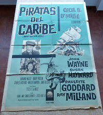 Reap the Wild Wind Argentinean Movie Poster, Original, Folded, 1 Sheet, R1950s?