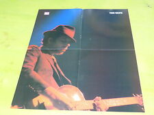 TOM WAITS -  VINTAGE FRENCH PROMO BIO/POSTER FROM THE 80'S!!!!!!!!!