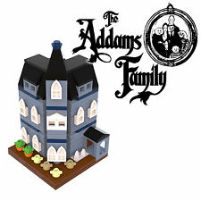 LEGO Addams Family mansion instructions custom mini modular 10228 10230 MOC blue