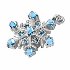 Stainless Steel Snowflake Cremation Pendant Urn Jewelry Holds Pet Ashes Human BL