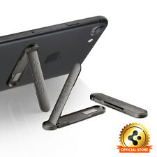 Spigen® [U100 Black] Metal Kickstand for Universal Mobile Phones Apple Samsung