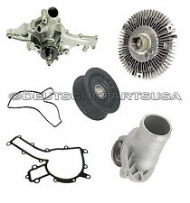 MERCEDES W163 ML320 430 500 WATER PUMP PULLEY THERMOSTAT FAN CLUTCH KIT