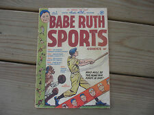 Old Vtg 1949 #3 August Official Babe Ruth Sports Magazine Comic 10 Cents