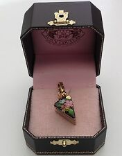 NIB Juicy Couture New Genuine Rare Boxed Gold Slice Of Chocolate Cake Charm