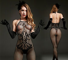 Sexy Women Lace Open Crotch Body Stocking Bodysuit Lingerie Sleepwear Nightwear