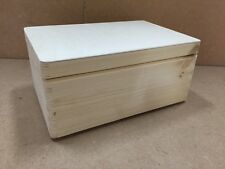 Natural pine wood small storage crate with lid DD168NH box chest store treasure