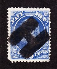 """US O40 10c Navy Department Used w/ Bold Letter """"H"""" Fancy Cancel"""