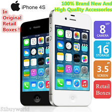 "3,5""Apple iPhone 4S IOS 16GB 3G 1080P DualCore Mobile Teléfono Original Unl"