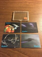 Star Trek BLOCKBUSTER CAPTAINS 4-Card STARSHIPS LENTICLAR MOTION Set SkyBox1996