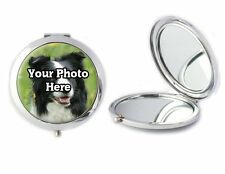 Personalised Photo Of Your Dog Compact Mirror Ladies Birthday Mothers Day Gift