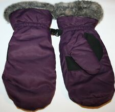 Eddie Bauer Down Essential Womens Mittens GLOVES L LARGE PURPLE EGGPLANT