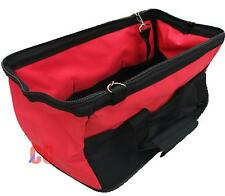 "QUALITY folding tool bag case holdal 16"" THICK canvas box carrier solid base"