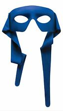 LARGE MASKED MAN MASK w/TIES SUPER HERO COSTUME ACCESSORY BLUE