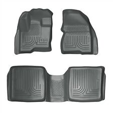 2009-2013 Ford Flex Husky Grey WeatherBeater Front & 2nd Row Floor Liners