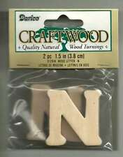 "1 1/2"" Wooden Letter ""N"" (2 in Pack) *NEW* Unfinished Wood Alphabet Cutout"
