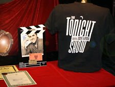 GREAT Signed JAY LENO, Autograph, COA, Frame, TICKET, Tonight Show SHIRT, UACC