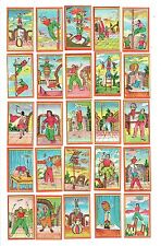 Complete Set of 60 c.1960s matchbox labels Depicting Acrobats.