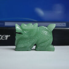 NEW 2.0INCH Natural Chinese Aqua Dong Lin Jade Carved Dragon Statue
