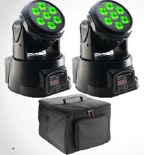 2 X Stagg Headbanger Paquete Led Wash Moving Head 7 X 10w Rgbw Dmx Disco Dj Banda