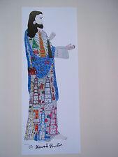 HOWARD FINSTER  Large  JESUS  Print  SIGNED NUMBERED  Folk Art