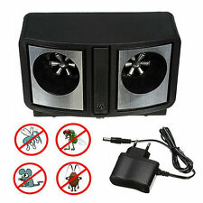 Dual Sonic Ultrasonic Pest Repeller Mice Mosquito Insect Control Repellent FE
