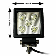 *LED WORK LAMP - TRACTOR HIGH OUTPUT FLOOD LIGHT 15w - 12v 24v - Waterproof*