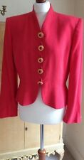 Authentic CHRISTIAN DIOR Vintage 80's Coral Red Dress Jacket FR40 UK12 Stunning!