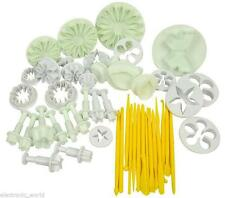 11 SET 47 PC CAKE DECORATING SUGARCRAFT FONDANT ICING PLUNGER CUTTER TOOL KIT