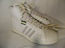 Vintage 1980's Trax White Leather Hi Top Sneakers Mens Size 12 M Laces