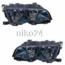 Scheinwerfer Set schwarz BMW E46 Coupe Cabrio 2001-2003 links und rechts