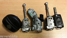 CITROEN C3 PICASSO 09-15 LOCK SET IGNITION BARREL DOOR X2 MATCHING FLIP KEY