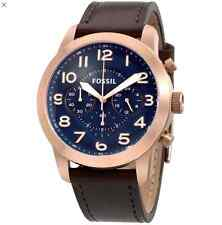 **NEW** MENS FOSSIL PILOT 54 BLUE ROSE GOLD CHRONO WATCH - FS5204 - RRP £149