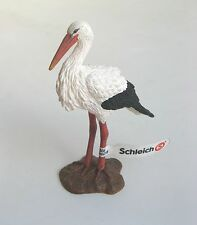 SCHLEICH WILD LIFE ANIMALS REF 14674 - STORK - RETIRED MODEL - NEW WITH TAGS!!